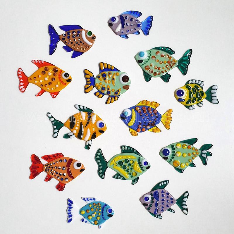 Fused Glass decorative SMALL FISH