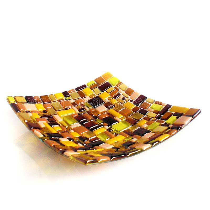 Fused Glass Bowl AMBER