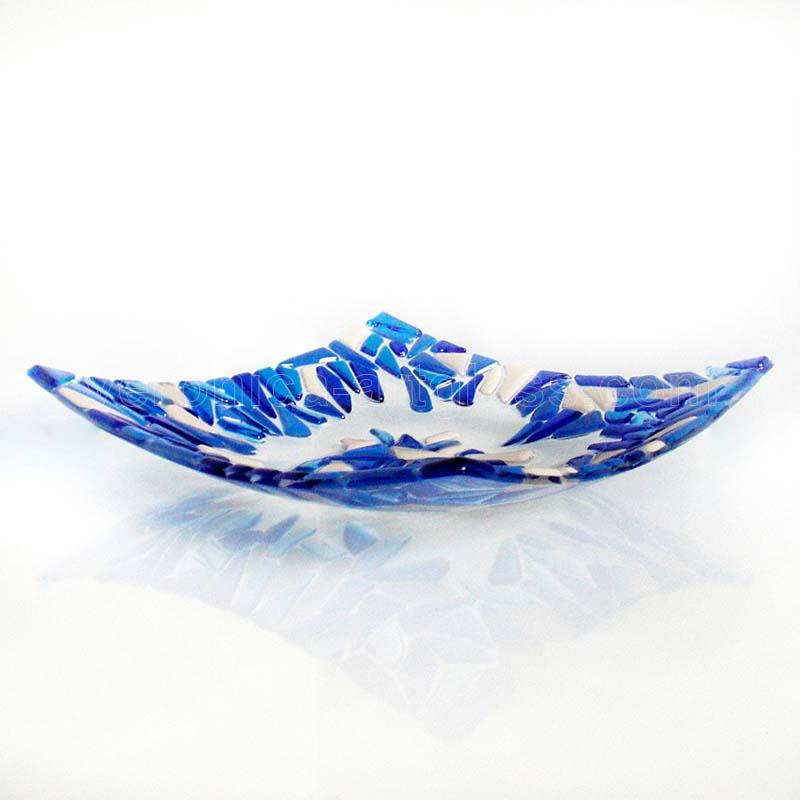 Fused Glass Bowl FROSTY MORNING