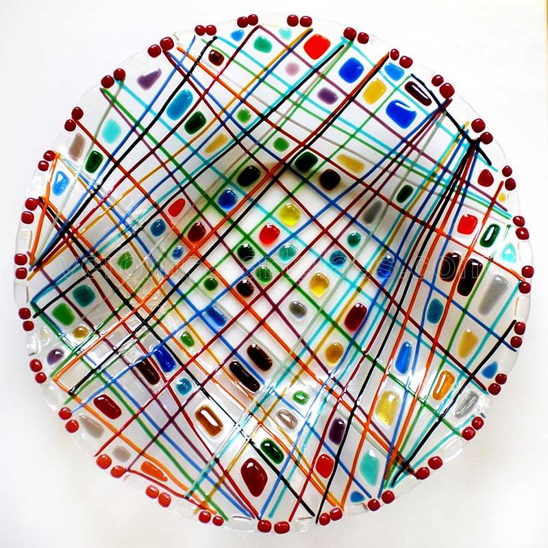 Fused Glass Bowl FUNNY MOOD