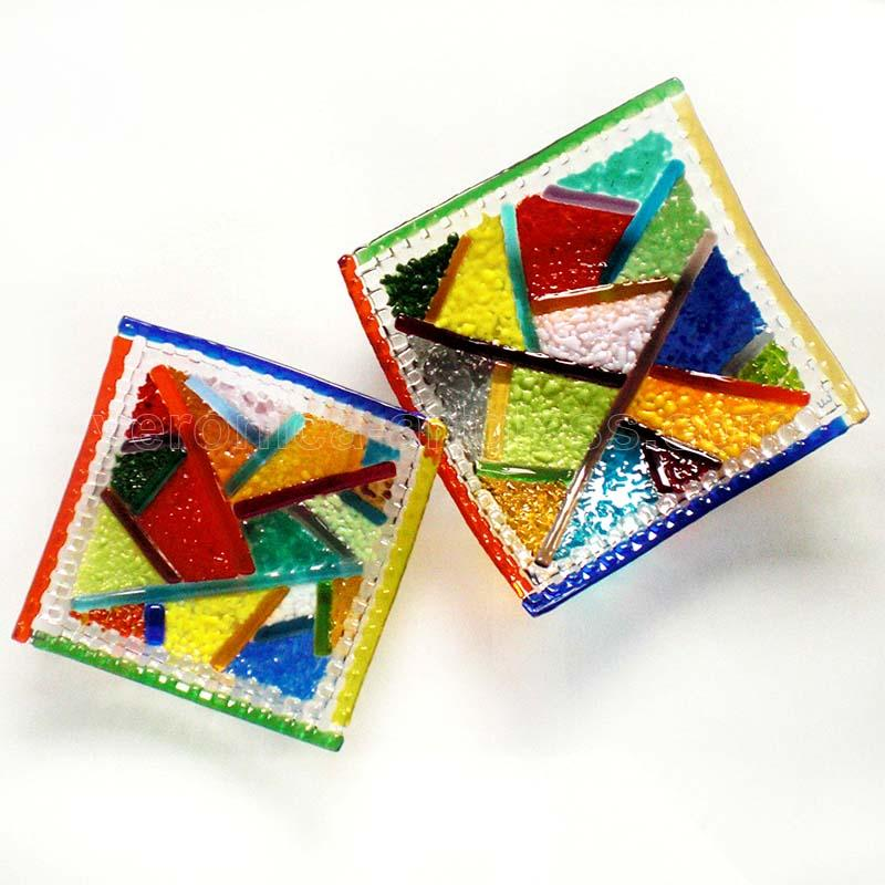 Fused Glass Bowls KALEIDOSCOPE