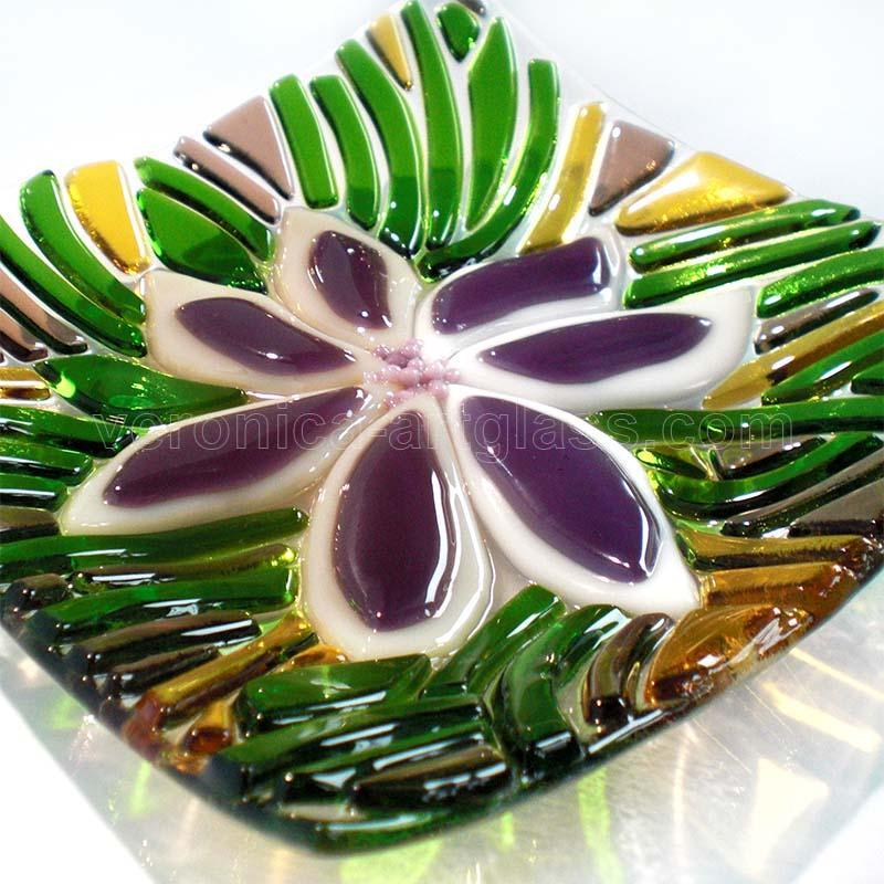 Geschmolzenem Glasschale RASEN