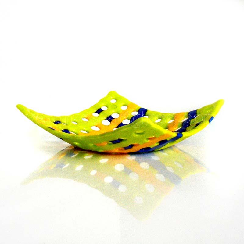 Fused glass bowl of fused glass fusing SUMMER
