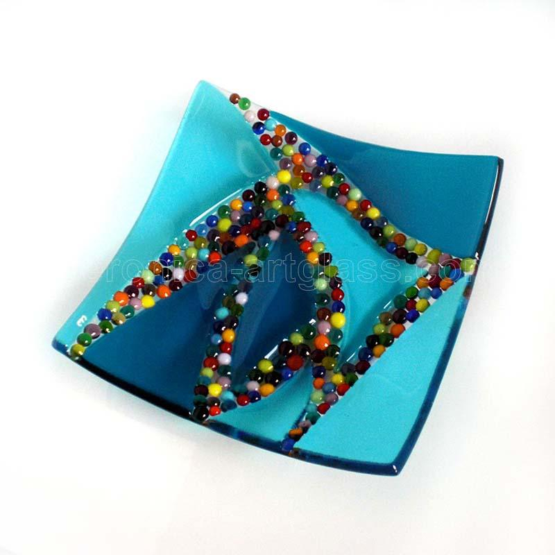 Fused Glass Bowl TANGO