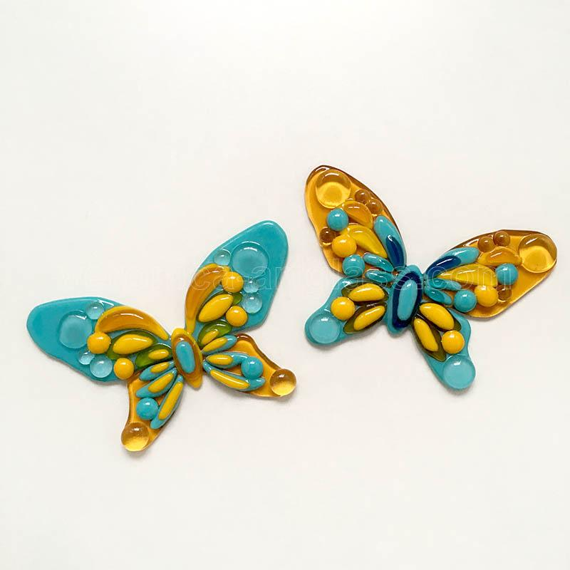 Fused glass butterfly of fused glass
