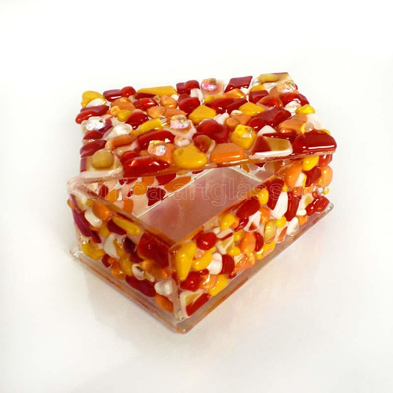 Fused Glass Casket SWEET CHERRY