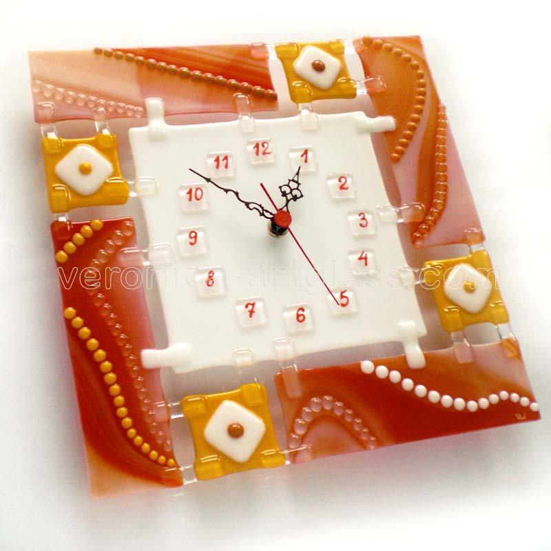Fused Glass Wall Clock CANDY